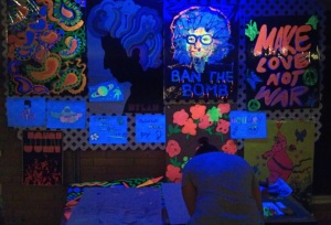 UV Art Wall